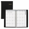 "At-A-Glance Unruled Monthly Pocket Planner - Julian - Monthly - 1 Year - January 2017 till December 2017 - 1 Month Double Page Layout - 3.75"" x 6.13"" - Wire Bound - Synthetic Leather - Black - Pocket,"