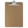 "Wood Clipboard - 1"" Clip Capacity - 9"" x 12.50"" - Clamp - Hardboard - Brown"