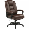 "Office Star EX5162 Deluxe High Back Executive Leather Chair - Leather Burgundy Seat - Leather Back - 5-star Base - 21.50"" Seat Width x 22"" Seat Depth - 26.5"" Width x 31.5"" Depth x 46.3"" Height"