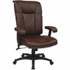"Office Star EX9382 Deluxe Executive High Back Leather Chair - Leather Burgundy Seat - Black Frame - 5-star Base - 22.75"" Seat Width x 20.75"" Seat Depth - 28"" Width x 20"" Depth x 46.5"" Height"