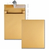 "Quality Park Expansion Mailer - Expansion - 12"" Width x 15"" Length - 2"" Gusset - 40 lb - Peel & Seal - Kraft - 100 / Carton - Brown Kraft"