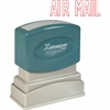 "Xstamper Pre-Inked Stamp - Message Stamp - ""AIRMAIL"" - 0.50"" Impression Width x 1.63"" Impression Length - 100000 Impression(s) - Red - Recycled - 1 Each"