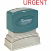"Xstamper Pre-Inked Stamp - Message Stamp - ""URGENT"" - 0.50"" Impression Width x 1.63"" Impression Length - 100000 Impression(s) - Red - Recycled - 1 Each"