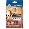 Lyra Color Giants Skin Tone Colored Pencils - 6.3 mm Lead Diameter - Assorted Lead - 12 / Set