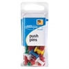 ACCO® Push Pins - 75 / Pack - Assorted - Plastic