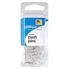 ACCO® Push Pins - 75 / Pack - Clear - Plastic