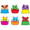 "Trend Blockstar Buddies Mini Accents Variety Pack - Fun Theme/Subject - 18 Dog, 18 Cat - Durable, Precut, Reusable - 3"" Height - Multicolor - 36 / Pack"