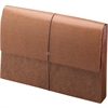 "Smead Leather-Like Expanding Wallets with Elastic Cord - 10"" x 15"" Sheet Size - 5 1/4"" Expansion - Brown - Recycled - 1 Each"