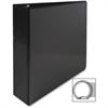"""Standard Presentation Binder - 2"""" Binder Capacity - Letter - 8 1/2"""" x 11"""" Sheet Size - Ring Fastener - 2 Internal Pocket(s) - Black - 1 Each"""