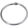 "OIC Looseleaf Book Ring - 1.5"" Diameter - Silver - Metal - 100 / Box"