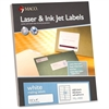 "MACO White Laser/Ink Jet Address Label - Permanent Adhesive - 1.33"" Width x 4"" Length - 14 / Sheet - Rectangle - Laser, Inkjet - White - 1400 / Box"