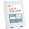 "MACO White Laser/Ink Jet Address Label - Permanent Adhesive - 1"" Width x 2.62"" Length - 30 / Sheet - Rectangle - Laser, Inkjet - White - 7500 / Box"