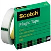 "Scotch Transparent Magic Tape - 1"" Width x 72 yd Length - 3"" Core - Writable Surface, Photo-safe, Non-yellowing - 1 Roll - Clear"
