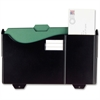 "Grande Central Filing System - 1 Pocket(s) - 9.8"" Height x 15.8"" Width x 3.1"" Depth - Wall Mountable, Partition-mountable - Black - 1Each"