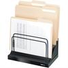 "Fellowes Designer Suites™ Step File® - 6 Compartment(s) - Compartment Size 1"" - 10.5"" Height x 11.1"" Width x 7.1"" Depth - Desktop - Black, Pearl - 1Each"