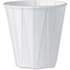 Solo Pleated Cup - 3.5 oz - 100 / Pack - White - Paper