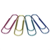 "Baumgartens Jumbo Metallic Paper Clips - 4"" Length - 1 Pack - Assorted - Metal"