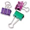 "Metallic Colored Binder Clip - Medium - 1"" Width - 5 Pack - Assorted - Metal"