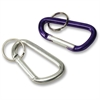 Baumgartens Carabiner Key Ring - Aluminum - 1 Each - Assorted