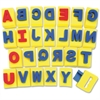 "ChenilleKraft Sponge A-Z Letters - 26 Capital Letter - Washable - 2"" Height x 2.93"" Width x 2.31"" Thickness - Assorted - 1 / Set"