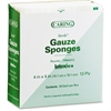 "Medline CARING Woven Gauze Sponge - 12 Ply - 4"" x 4"" - 50/Box - White"