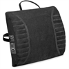 Advantus Massaging Lumbar Cushion Back/Seat Rest - Massage - Black