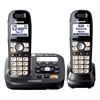 Panasonic DECT 6.0 1.90 GHz Cordless Phone - Metallic Black - Cordless - 1 x Phone Line - 1 x Handset - Speakerphone - Answering Machine - Caller ID - Backlight