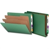"Nature Saver Recycled End Tab Classificatn Folders - Letter - 8 1/2"" x 11"" Sheet Size - End Tab Location - 2 Divider(s) - 25 pt. Folder Thickness - Green - Recycled - 10 / Box"