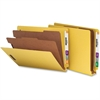 "End Tab Classification Folder - Letter - 8 1/2"" x 11"" Sheet Size - End Tab Location - 2 Divider(s) - 25 pt. Folder Thickness - Yellow - Recycled - 10 / Box"