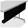 "Lorell Rectangular Training Table Modesty Panel - 42"" Width x 3"" Depth x 10"" Height - Steel - Black"