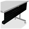 "Lorell Rectangular Training Table Modesty Panel - 54"" Width x 3"" Depth x 10"" Height - Steel - Black"