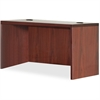 "Lorell Essentials Rectangular Desk Shell - 47.3"" x 29.5"" x 29.5"" - Finish: Laminate, Mahogany"