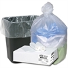 "Webster Ultra Plus High Density Trash Can Liner - Small Size - 10 gal - 24"" Width x 24"" Length x 0.31 mil (8 Micron) Thickness - High Density - Natural - Resin - 500/Carton - Industrial Trash, Office"
