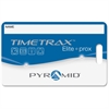 "Pyramid Time Systems TimeTrax Proximity Badge 15/pk - Proximity Card - 3.50"" Width x 2.50"" Length - 15/Pack - Blue"