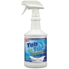 Spray Nine Tub n' Tile Cleaner - Liquid Solution - 0.25 gal (32 fl oz) - Lemon, Lime Scent - 1 / Each - Clear