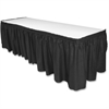 Genuine Joe Table Skirts - Adhesive Backing - 1 Each - Polyester - Black