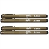 Helix Disposable Technical Drawing Pens - 0.1 mm, 0.3 mm, 0.5 mm, 0.8 mm Point Size - Black Water Based Ink - 4 / Pack
