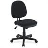 "Lorell Contoured Back Tilt Task Chair - Black - Plastic - 24"" Width x 14"" Depth x 25"" Height"