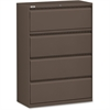 "Lorell Fortress Series 42'' Lateral File - 42"" x 18.6"" x 52.5"" - 4 x Drawer(s) for File - Letter, Legal, A4 - Lateral - Magnetic Label Holder, Ball Bearing Slide, Ball-bearing Suspension, Adjustable L"