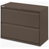 "Lorell Fortress Series 42'' Lateral File - 42"" x 18.6"" x 28"" - 1 x Shelf(ves) - 2 x Drawer(s) for File - Letter, Legal, A4 - Lateral - Magnetic Label Holder, Ball Bearing Slide, Ball-bearing Suspensio"