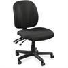 "Lorell Mid-Back Task Chair w/o Arms - Fabric Black Seat - Fabric Black Back - 5-star Base - Black - 20"" Seat Width x 17"" Seat Depth - 20"" Width x 18"" Depth x 43"" Height"