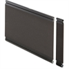 "Lorell Desktop Panel System Fabric Panel - 22.3"" Width11.8"" Height x 500 mil Thickness - Fabric, MDF, Aluminum - Black"