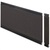 "Lorell Desktop Panel System Fabric Panel - 28.1"" Width x 0.5"" Depth x 11.8"" Height - Fabric, MDF, Aluminum - Black"