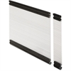 "Lorell Desktop Panel System Glazed Panel - 22.3"" Width11.8"" Height x 500 mil Thickness - Plexiglass, Aluminum - Clear"