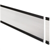 "Lorell Desktop Panel System Glazed Panel - 34.8"" Width11"" Height x 500 mil Thickness - Plexiglass, Aluminum - Clear"
