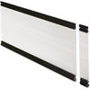 "Lorell Desktop Panel System Glazed Panel - 45.9"" Width11.8"" Height x 500 mil Thickness - Plexiglass, Aluminum - Clear"