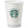 Starbucks 12oz Hot Cups - 12 fl oz - 1000 / Carton - White - Paper - Coffee, Hot Drink