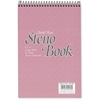 "Ampad Pastel Steno Notebook - 80 Sheets - Printed - Wire Bound - Front Ruling Surface - 20 lb Basis Weight 6"" x 9"" - Pink Paper - Pink Cover - 1Each"