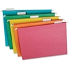 "TOPS Recycled 1/5 Cut Hanging Folders - Letter - 8 1/2"" x 11"" Sheet Size - 1/5 Tab Cut - Stock - Assorted - 20 / Box"