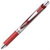 EnerGel Liquid Steel Tip Gel Pens - Medium Point Type - 0.7 mm Point Size - Refillable - Red Gel-based Ink - Red, Stainless Steel Barrel - 1 Dozen
